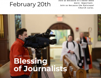 """Second Annual """"Blessing of Journalists"""" to be held at Episcopal cathedral Feb. 20"""