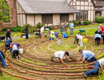 Building community: Group finishes labyrinth on Greenfield church campus
